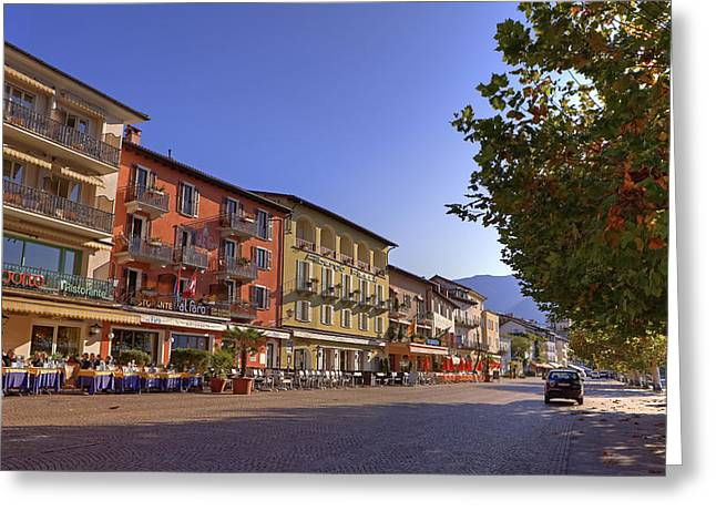 Sycamore Greeting Cards - Ascona Greeting Card by Joana Kruse