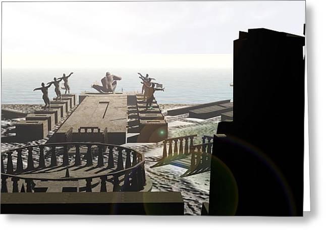 Atlantis Greeting Cards - Atlantis Greeting Card by Christian Darkin