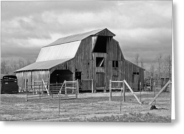 Hayloft Greeting Cards - Barn Greeting Card by Geary Barr