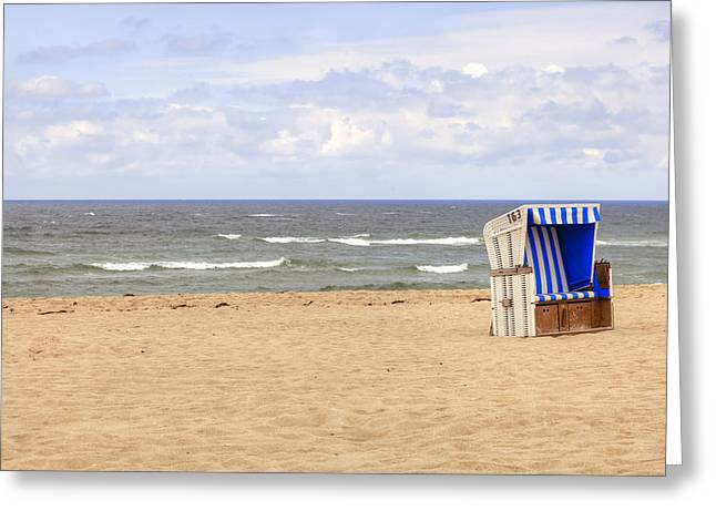 Hoernum Greeting Cards - Beach Chair Greeting Card by Joana Kruse