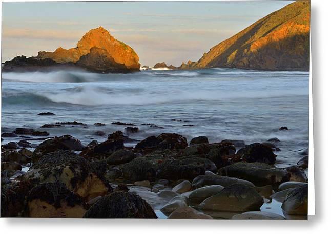 Pfeiffer Beach Greeting Cards - Big Sur Coastline Greeting Card by Stephen  Vecchiotti