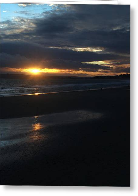 Sunset Greeting Cards Greeting Cards - Bournemouth Sunset Greeting Card by Chris Day