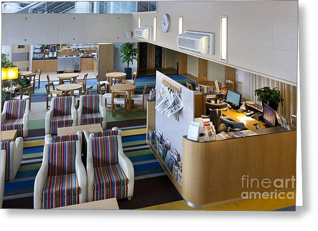 Tallinn Airport Greeting Cards - Business Lounge at an Airport Greeting Card by Jaak Nilson