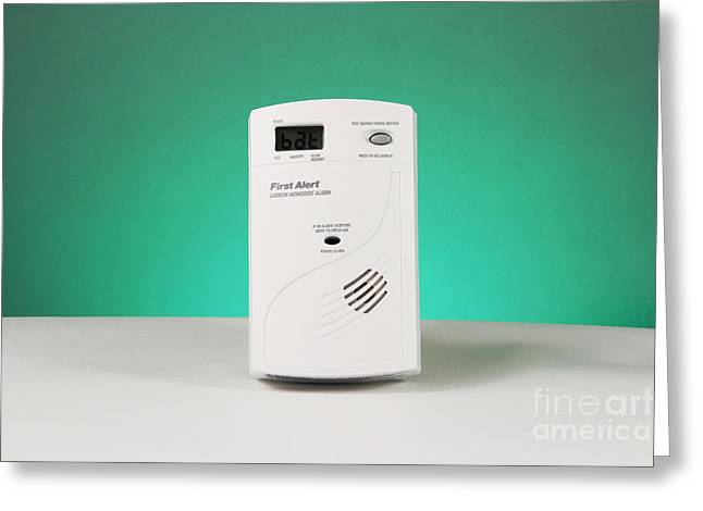 Carbon Monoxide Detector Greeting Card by Photo Researchers, Inc.