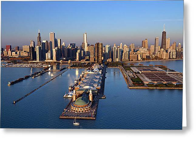 Jeff Lewis Greeting Cards - Chicago Skyline Greeting Card by Jeff Lewis