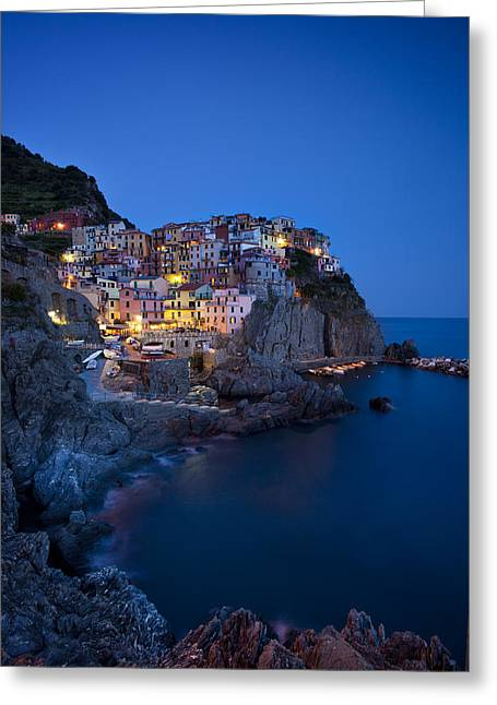 Rocky Cliff Greeting Cards - Cinque Terre Greeting Card by Brian Jannsen