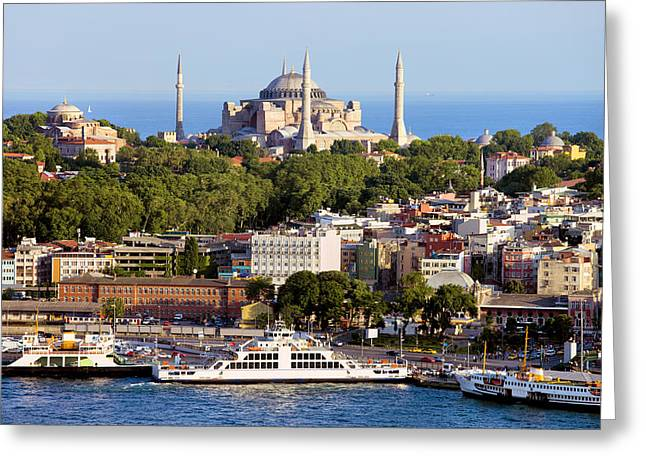Stanbul Greeting Cards - City of Istanbul Greeting Card by Artur Bogacki