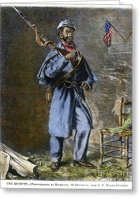 Bayonet Greeting Cards - Civil War: Black Troops Greeting Card by Granger
