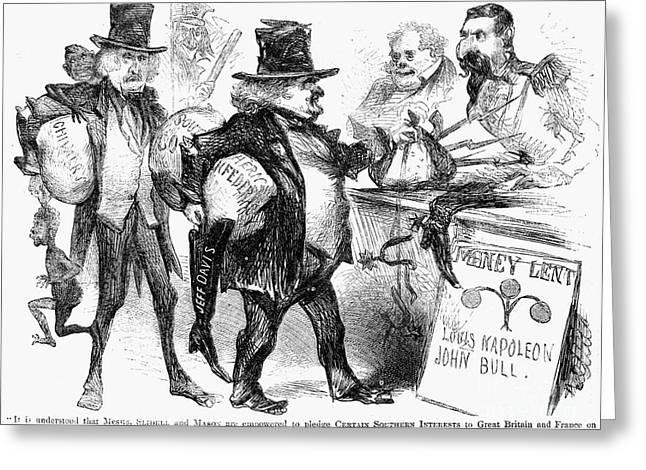 Slidell Greeting Cards - Civil War: Cartoon, 1861 Greeting Card by Granger