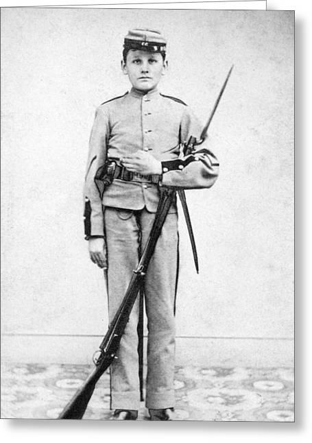 Bayonet Greeting Cards - Civil War Soldier Greeting Card by Granger