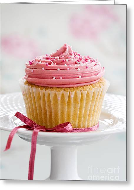 Tea Party Greeting Cards - Cupcake Greeting Card by Ruth Black