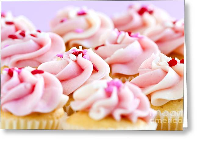 Cupcakes Greeting Cards - Cupcakes Greeting Card by Elena Elisseeva