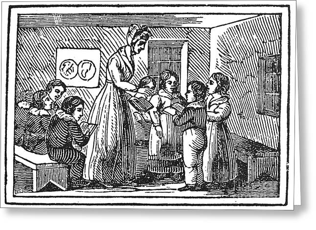 Schoolgirl Greeting Cards - Dames School Greeting Card by Granger