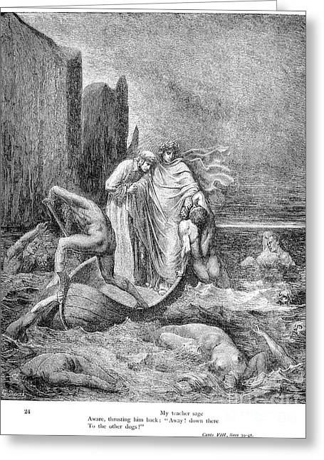 Ferryman Greeting Cards - Dante: Inferno Greeting Card by Granger