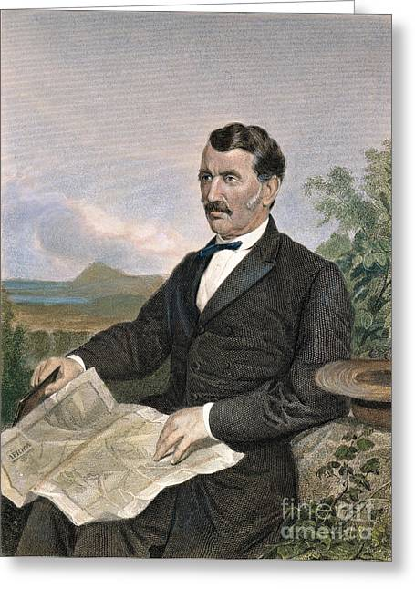 Sideburns Greeting Cards - David Livingstone Greeting Card by Granger