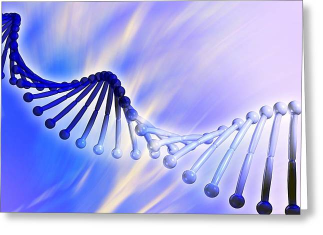 Biochemistry Greeting Cards - Dna Strand, Artwork Greeting Card by Pasieka