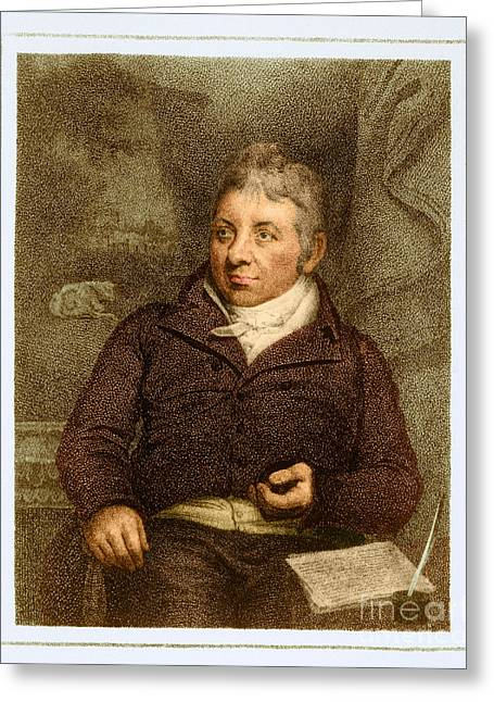 Microbiologist Greeting Cards - Edward Jenner, English Microbiologist Greeting Card by Science Source
