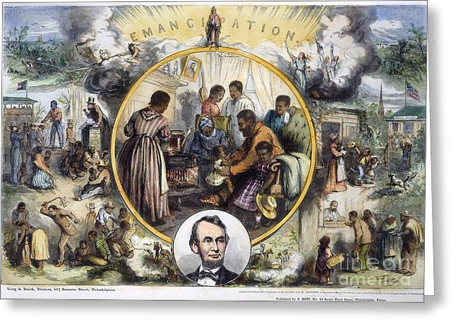 Abolition Photographs Greeting Cards - Emancipation Proclamation Greeting Card by Granger