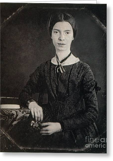 Famous Person Portrait Greeting Cards - Emily Dickinson, American Poet Greeting Card by Photo Researchers