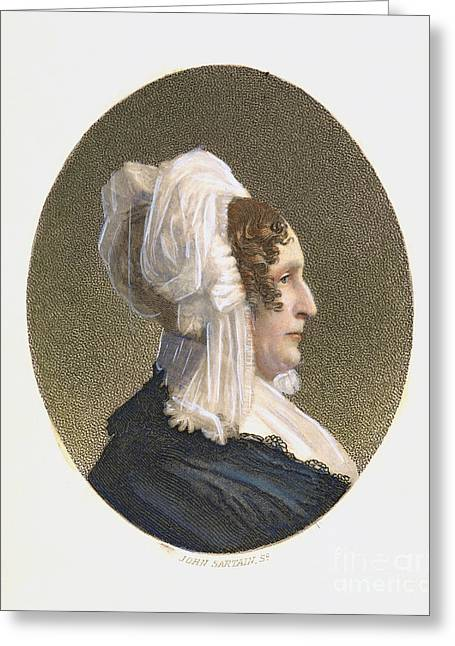 Schoolmistress Greeting Cards - Emma Willard (1787-1870) Greeting Card by Granger