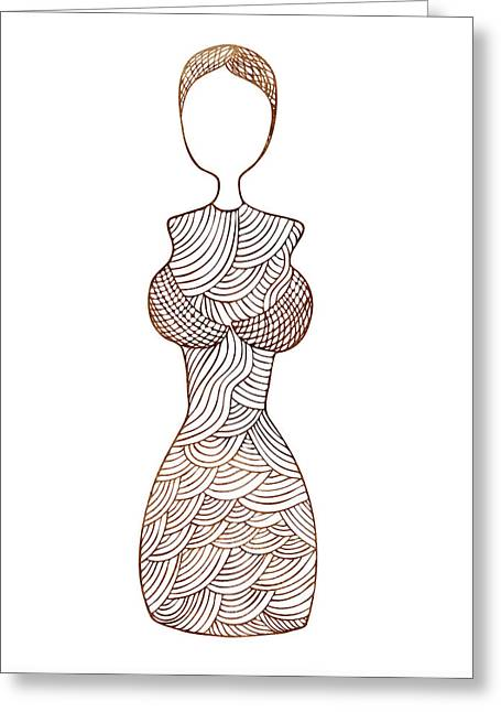 Apparel Greeting Cards - Fashion sketch Greeting Card by Frank Tschakert