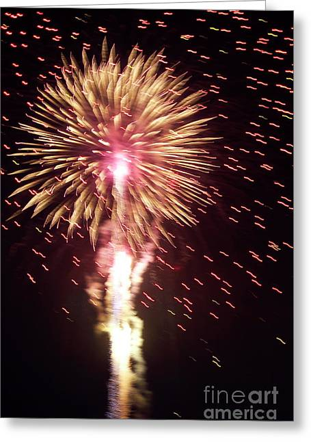 Bastille Photographs Greeting Cards - Fireworks light Greeting Card by Sami Sarkis