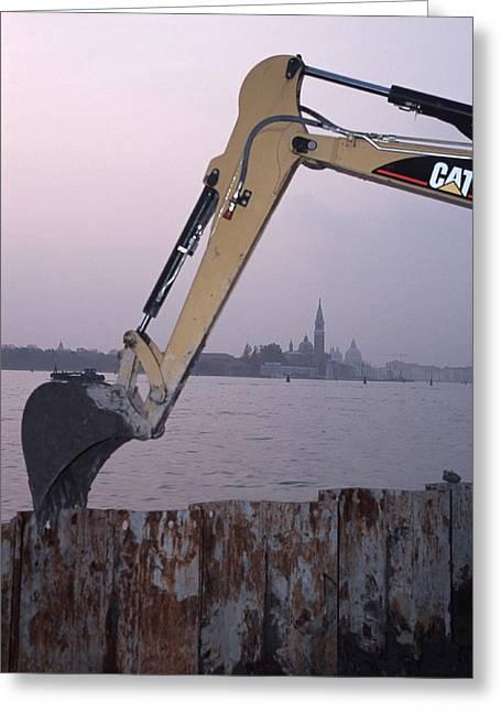Flooding Greeting Cards - Flood Defences, Venice Greeting Card by Volker Steger