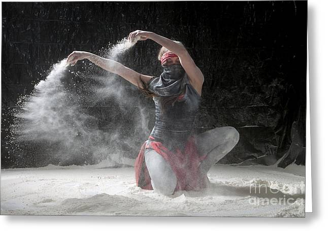 Flour Dancer Series Greeting Card by Cindy Singleton