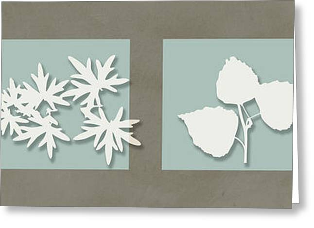 4 Flowers Greeting Card by Nomi Elboim