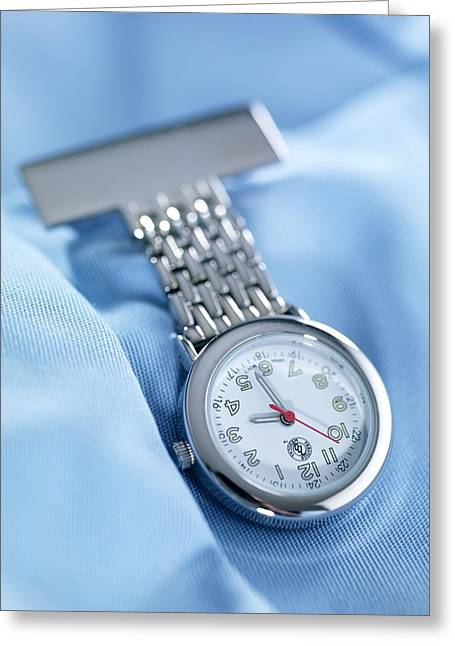 Watch Fob Greeting Cards - Fob Watch Greeting Card by Tek Image