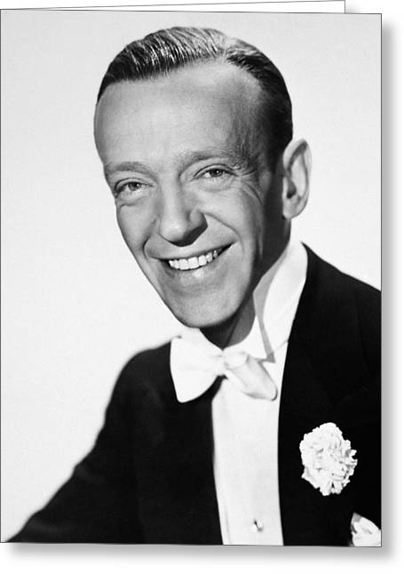 Tuxedo Greeting Cards - Fred Astaire (1899-1987) Greeting Card by Granger