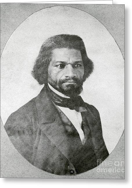 Abolition Greeting Cards - Frederick Douglass, African-american Greeting Card by Photo Researchers