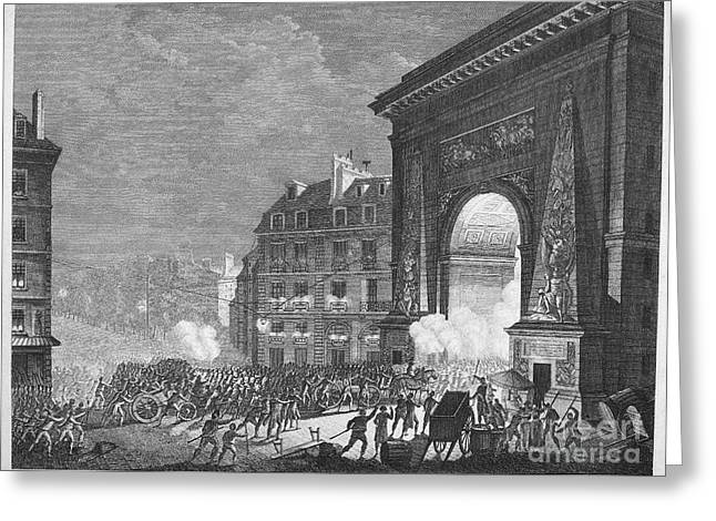 Champs Greeting Cards - French Revolution, 1789 Greeting Card by Granger