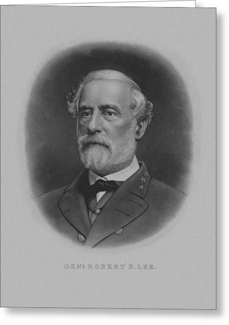 Portraits Greeting Cards - General Robert E. Lee Greeting Card by War Is Hell Store
