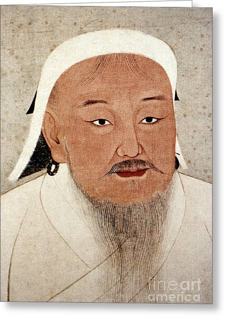 Yuan Dynasty Greeting Cards - Genghis Khan (1162-1227) Greeting Card by Granger