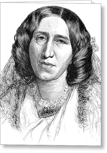 Burton Greeting Cards - George Eliot (1819-1880) Greeting Card by Granger