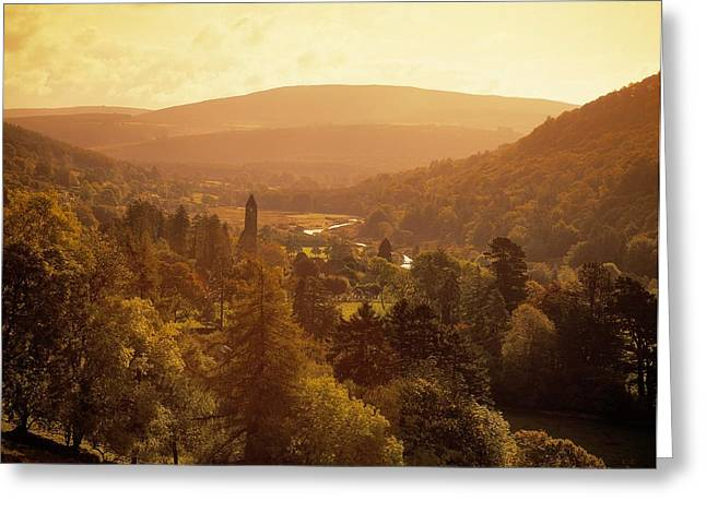 Wood Carving Greeting Cards - Glendalough, Co Wicklow, Ireland Greeting Card by The Irish Image Collection