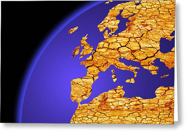 Desertification Greeting Cards - Global Warming, Conceptual Image Greeting Card by Victor De Schwanberg