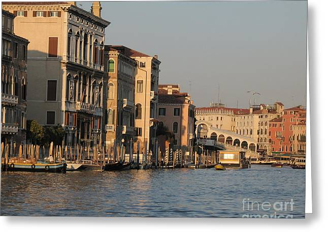 European Pyrography Greeting Cards - Grand Canal. VENICE Greeting Card by Bernard Jaubert