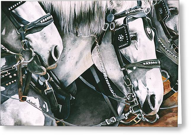 Nadi Spencer Paintings Greeting Cards - 4 Grays Greeting Card by Nadi Spencer