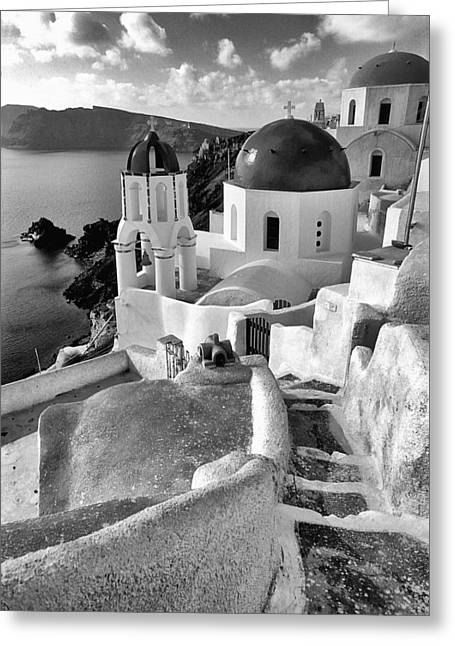 Thirasia Greeting Cards - Greek island - Santorini Greeting Card by Manolis Tsantakis