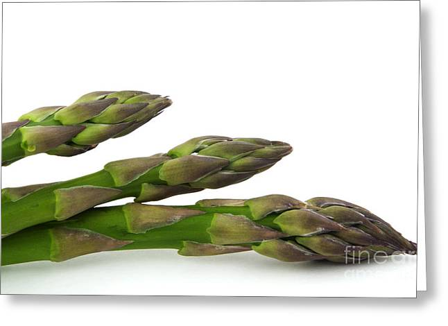 Vegetables Greeting Cards - Green asparagus Greeting Card by Blink Images