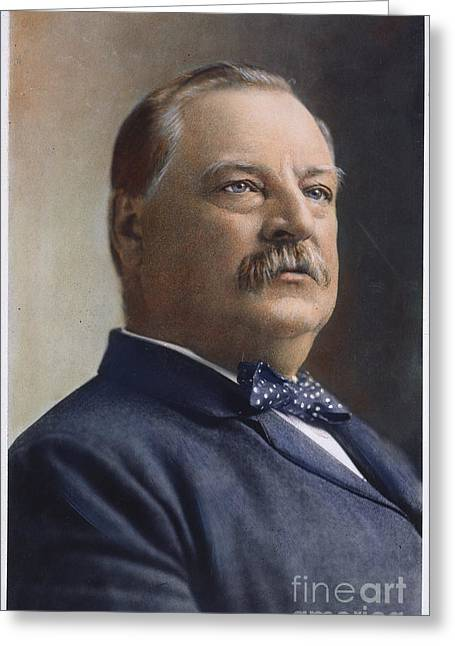 Bowtie Greeting Cards - Grover Cleveland (1837-1908) Greeting Card by Granger