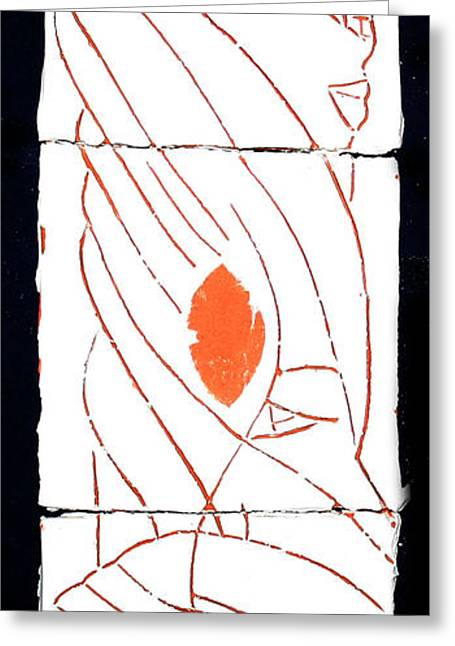 Abstracted Ceramics Greeting Cards - Guardian Angel Greeting Card by Gloria Ssali