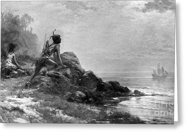 Recently Sold -  - Half Moon Bay Greeting Cards - HENRY HUDSON (d. 1611) Greeting Card by Granger