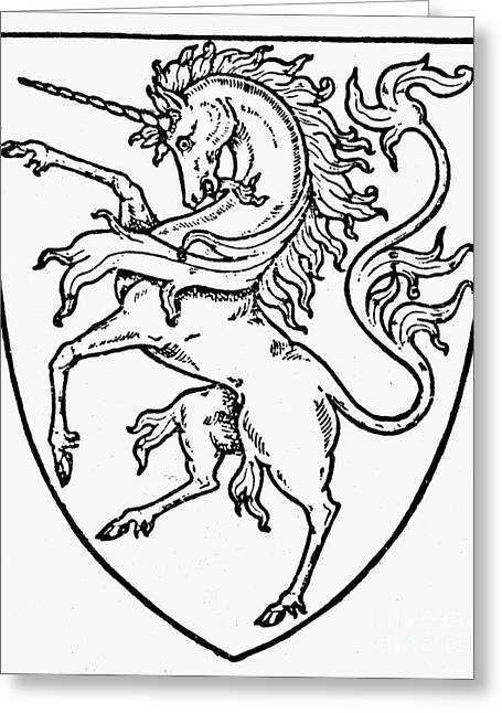 Rampant Greeting Cards - Heraldry Greeting Card by Granger