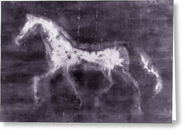 Duotone Greeting Cards - Horse Greeting Card by Julie Niemela
