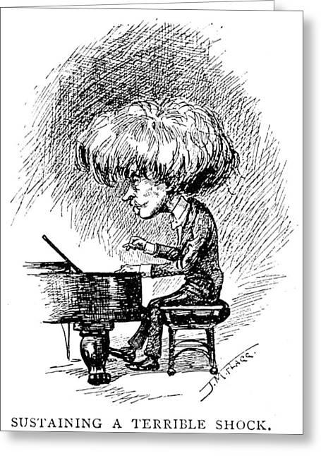 Flagg Greeting Cards - Ignace Jan Paderewski Greeting Card by Granger