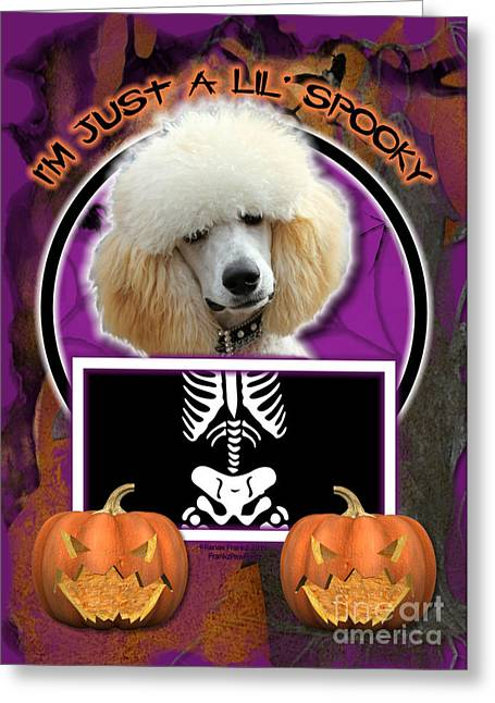 Halloween Greeting Cards - Im Just a Lil Spooky Poodle Greeting Card by Renae Laughner