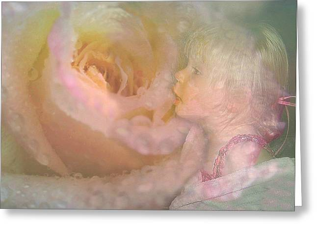 Innocent Beauty Greeting Card by Shirley Sirois